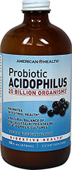 "Probiotic Acidophilus Liquid Blueberry <p>Contains a natural balance of specially selected strains of acidophilic cultures</p><p>Each serving provides over 20 billion ""friendly"" organisms for intestinal health◊**</p><p>Nutritionally supports healthy digestion**</p><p>Helps maintain a favorable environment for the absorption of nutrients**</p><p>Contributes to healthy immune function**</p><p>Suitable for vegetarians</p"