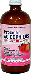 "Probiotic Acidophilus Liquid Strawberry <p>Contains a natural balance of specially selected strains of acidophilic cultures</p><p>Each serving provides over 20 billion ""friendly"" organisms for intestinal health◊**</p><p>Nutritionally supports healthy digestion**</p><p>Helps maintain a favorable environment for the absorption of nutrients**</p><p>Contributes to healthy immune function**</p><p class=""disclaimer-category&"