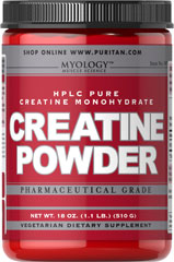 Creatine Powder <p>As a supplement that helps to promote athletic performance, Creatine enhances the ability of muscles to produce higher muscular force, especially during short bouts of maximal exercise.** Creatine is an excellent supplemental choice for athletes and hardcore bodybuilders.**</p> 510 g Powder 5000 mg $17.99