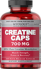 Creatine 700 mg <p>As a supplement that helps to promote athletic performance, Creatine enhances the ability of muscles to produce higher muscular force, especially during short bouts of maximal exercise.** Creatine is an excellent supplemental choice for athletes and hardcore bodybuilders.**</p> 240 Capsules 700 mg $22.99