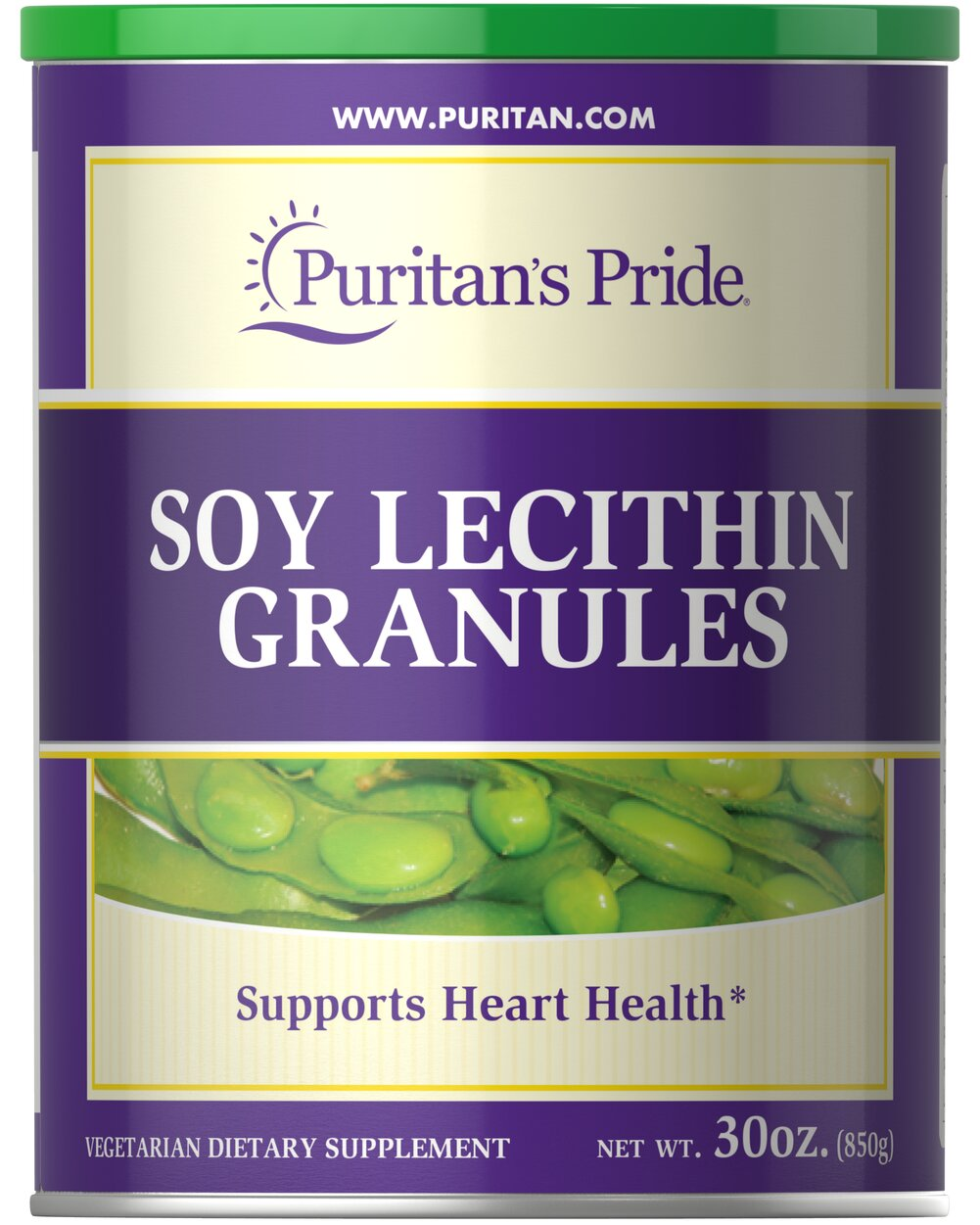 Soy Lecithin Granules 1680 mg <p>95% SOY PHOSPHATIDES </p><p>Finest Quality</p> <p>Supports Mental Function & Nerve Cell Health**</p><p>Lecithin is an important natural source of choline, inositol, and linoleic acid. Choline and Inositol are vital components of all cell membranes, and play important roles in cell growth and function.**</p> 30 oz Granules 1680 mg $25.99