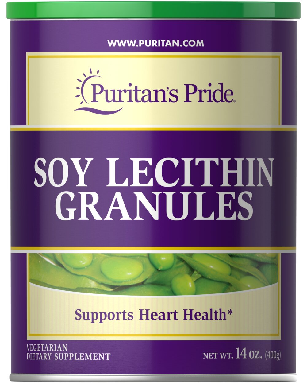 Soy Lecithin Granules 1680 mg <p>95% SOY PHOSPHATIDES </p><p>Finest Quality</p><p>Supports Mental Function & Nerve Cell Health**</p><p>Lecithin is an important natural source of choline, inositol, and linoleic acid. Choline and Inositol are vital components of all cell membranes, and play important roles in cell growth and function.**</p> 14 oz Granules 1680 mg $13.48