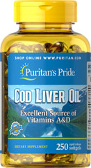 Norwegian Cod Liver Oil 415 mg <p>Norwegian cod has traditionally been one of the most popular natural sources of  <b>both Vitamins A & D</b>. </p> <p>Vitamin D helps maintain healthy bones in adults. ** </p>  <p>Vitamin A helps maintain eye health. **</p>  <p>Vitamins A & D help regulate the immune system.**</p>  250 Softgels 415 mg $14.99
