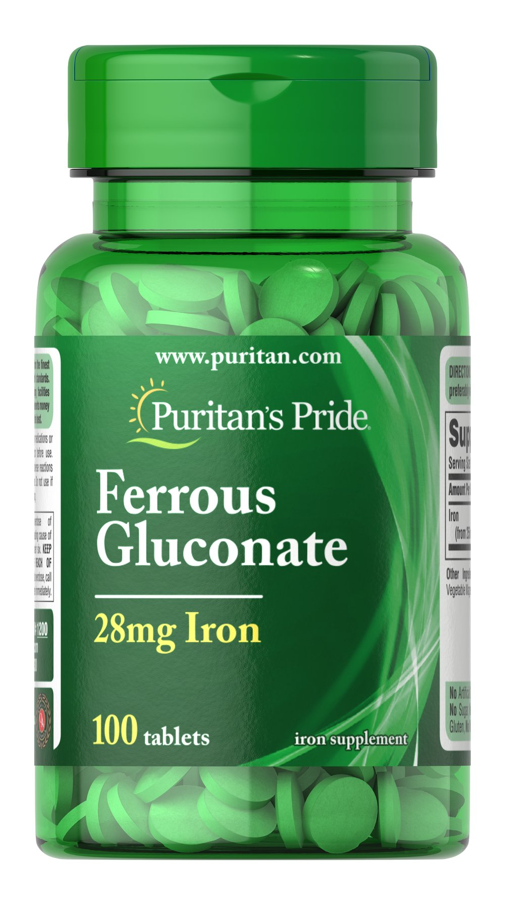 Ferrous Gluconate (28 mg Iron)  100 Tablets 28 mg $6.99