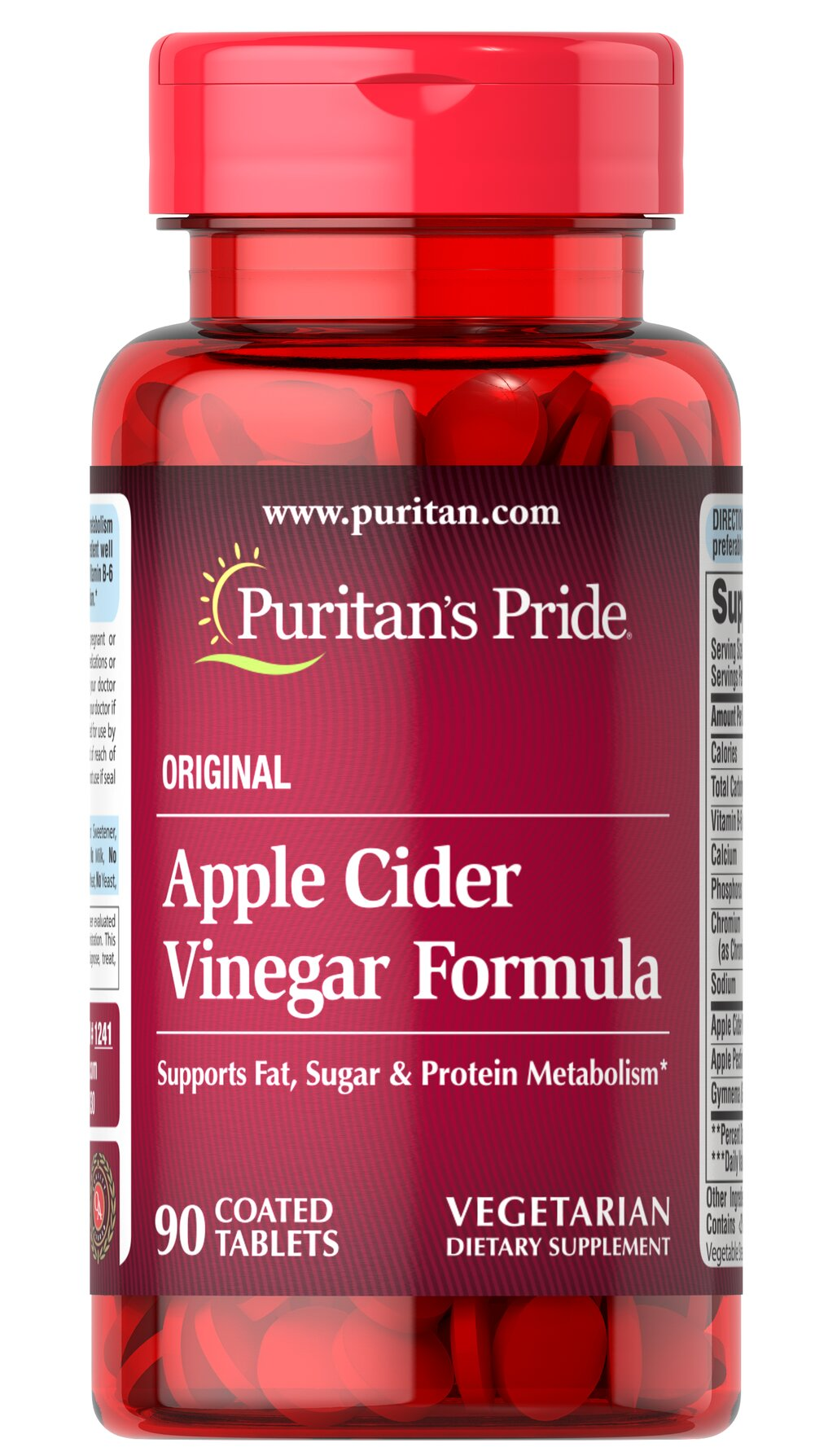 Apple Cider Vinegar Formula Chances are your mother and grandmother used Apple Cider Vinegar for a variety of purposes. As a supplement, Apple Cider Vinegar tablets are popular with fitness enthusiasts and those following healthy eating plans.<p></p>Vinegar is produced when fermentation occurs. Vinegar is a source of acetic acid. Acetic acid forms when sugars in food are broken down by bacteria and yeast. Acetic acid is what gives foods like sourdough bread and pickles their tangy ki
