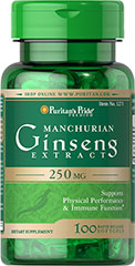 Manchurian Ginseng 250 mg <p>Supports Physical Performance**</p><p>Ginseng contains ginsenosides and flavonoids - bioactive factors that play a role in well-being.** World famous for its ability to support physical performance, Ginseng is also gaining a reputation as an immune support herb.**</p> 100 Softgels 250 mg $16.49