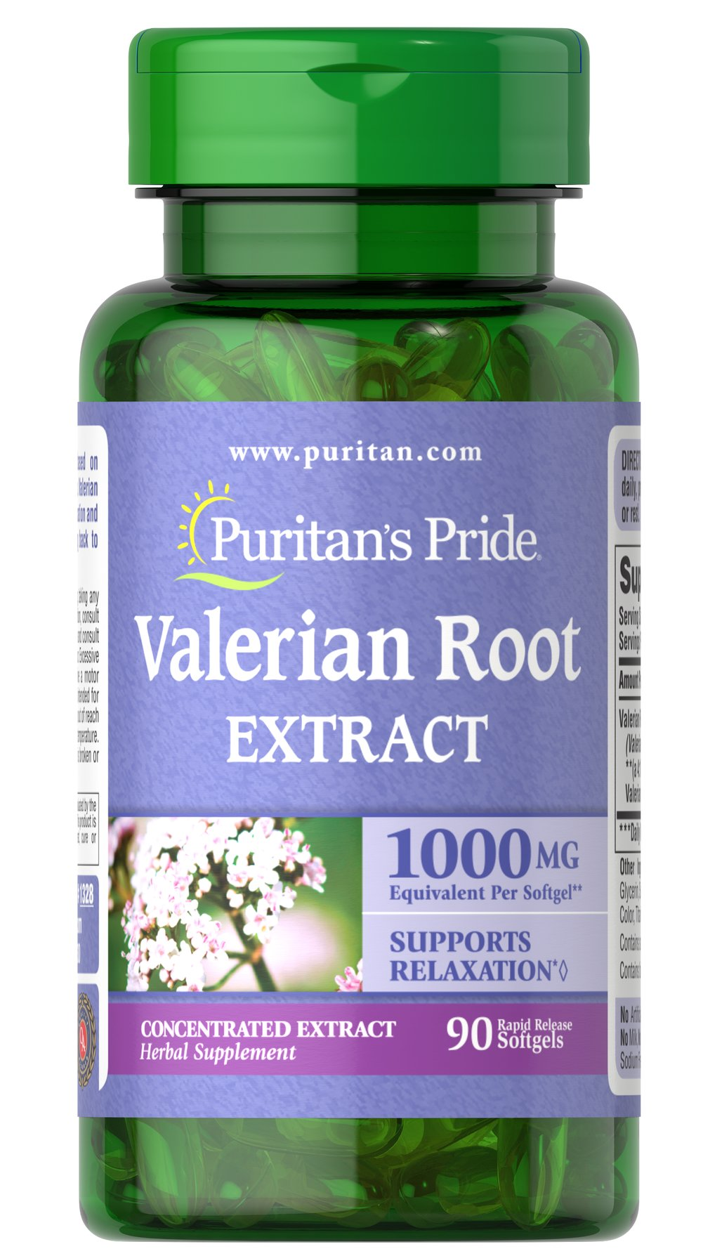 Valerian Root 1000 mg <p>Supports Relaxation**</p><p>Valerian works in harmony with your natural cycle to help promote relaxation, so you can leave your busy day behind and get the tranquil rest you deserve.**</p> 90 Softgels 1000 mg $14.99
