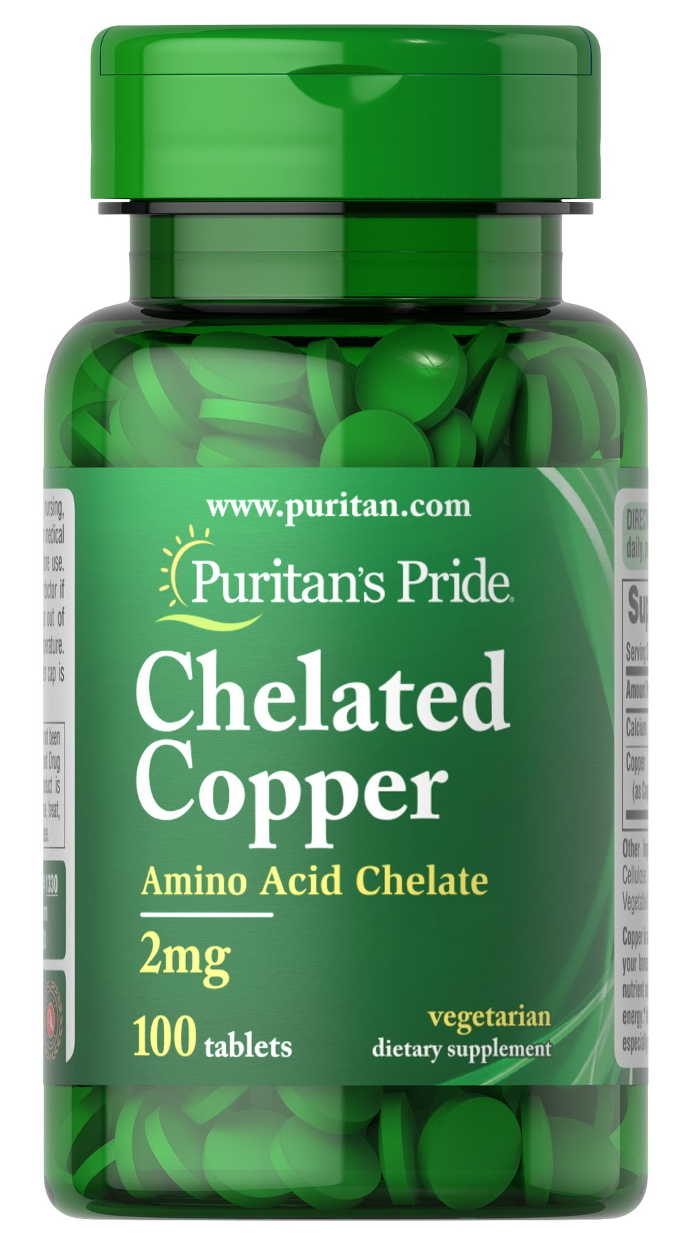 Copper Chelate 2 mg <p>Sugar, Starch and Preservative Free.</p><p>Among its many functions, copper aids in the formation of bone, hemoglobin, and red blood cells, and works in balance with zinc and vitamin C to form elastin.  Each tablet contains (20 mg) of Copper Amino Acid Chelate equivalent to (2 mg) of elemental Copper.</p> 100 Tablets 2 mg $5.99