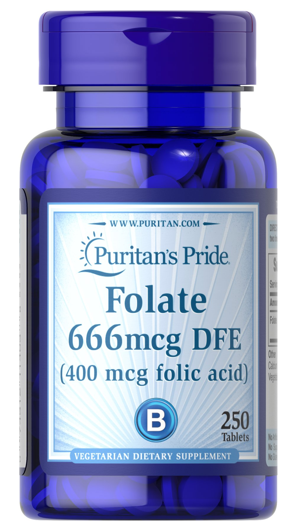 Folic Acid 400 mcg <p>It's well known that Folic Acid is important for pregnant women, but did you also know that this essential B Vitamin also supports cardiovascular health in women and men?** Folic Acid is part of a triad of B Vitamins - along with Vitamins B-6 and B-12 - that helps promote heart health.**</p> 250 Tablets 400 mcg $3.99