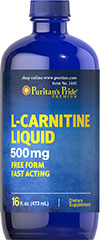 L-Carnitine Liquid 500 mg <p>Carnitine is a nitrogen-containing compound that assists in fat metabolism.** Carnitine plays an essential role in making fatty acids available for muscle tissue.</p> 16 oz Liquid 500 mg $13.99