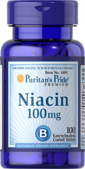 Niacin 100 mg <p>Supports Energy Metabolism and Nervous System Health** </p><p>Niacin is a B-Vitamin that is part of a coenzyme needed for energy metabolism.** Niacin helps maintain healthy functions of the nervous system and skin.**</p> 100 Tablets 100 mg $4.99
