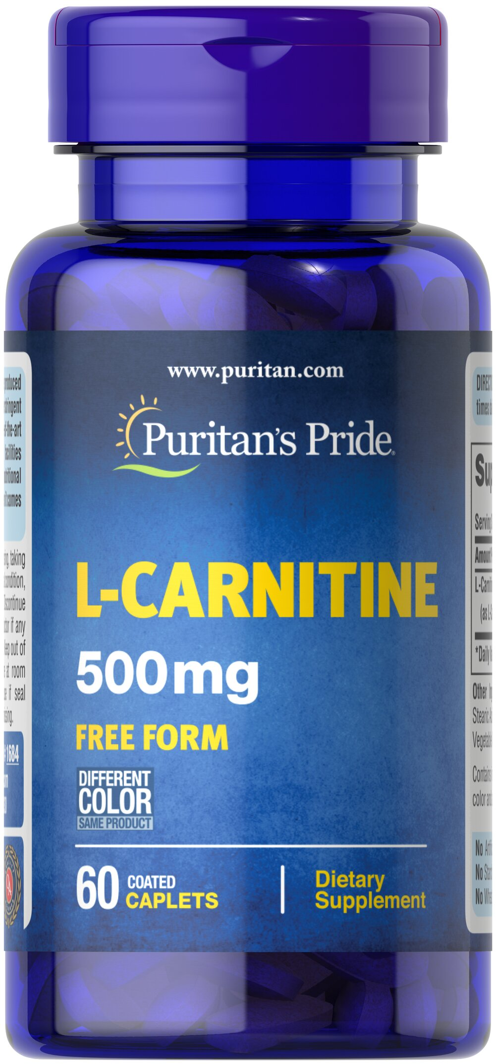 L-Carnitine 500 mg  60 Caplets 500 mg $13.49