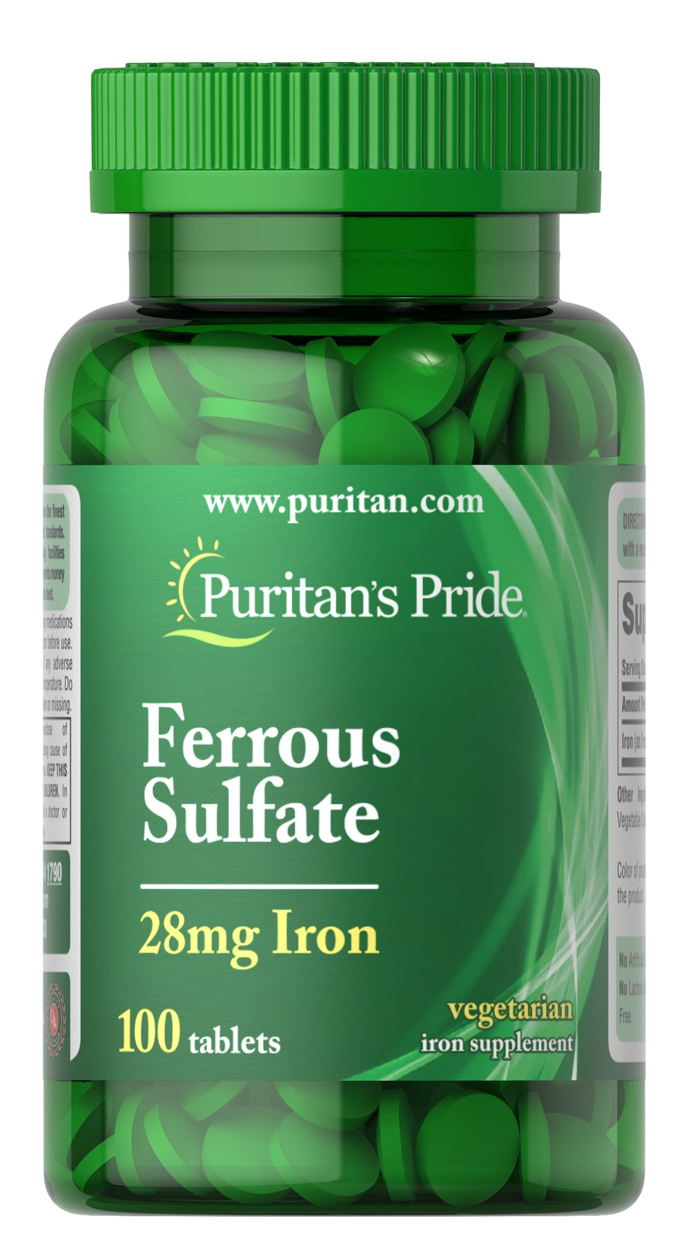 Iron Ferrous Sulfate 28 mg  100 Tablets 28 mg $6.99