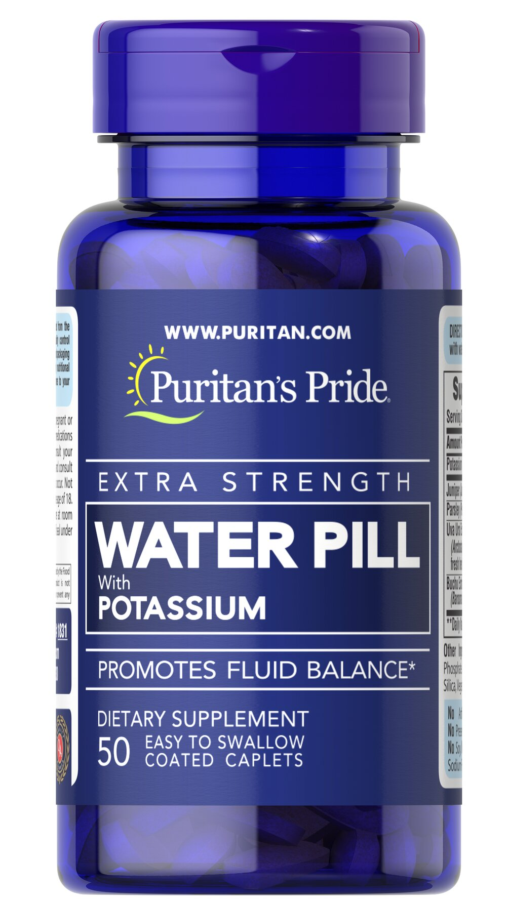 Extra Strength Water Pill™ <p>Promotes Fluid Balance**</p><p>This product contains the essential mineral Potassium, which works with sodium to regulate the body's water balance.** EXTRA STRENGTH WATER PILL™ Tablets also contain Uva Ursi, Buchu, Juniper and Parsley.</p> 50 Caplets  $6.99