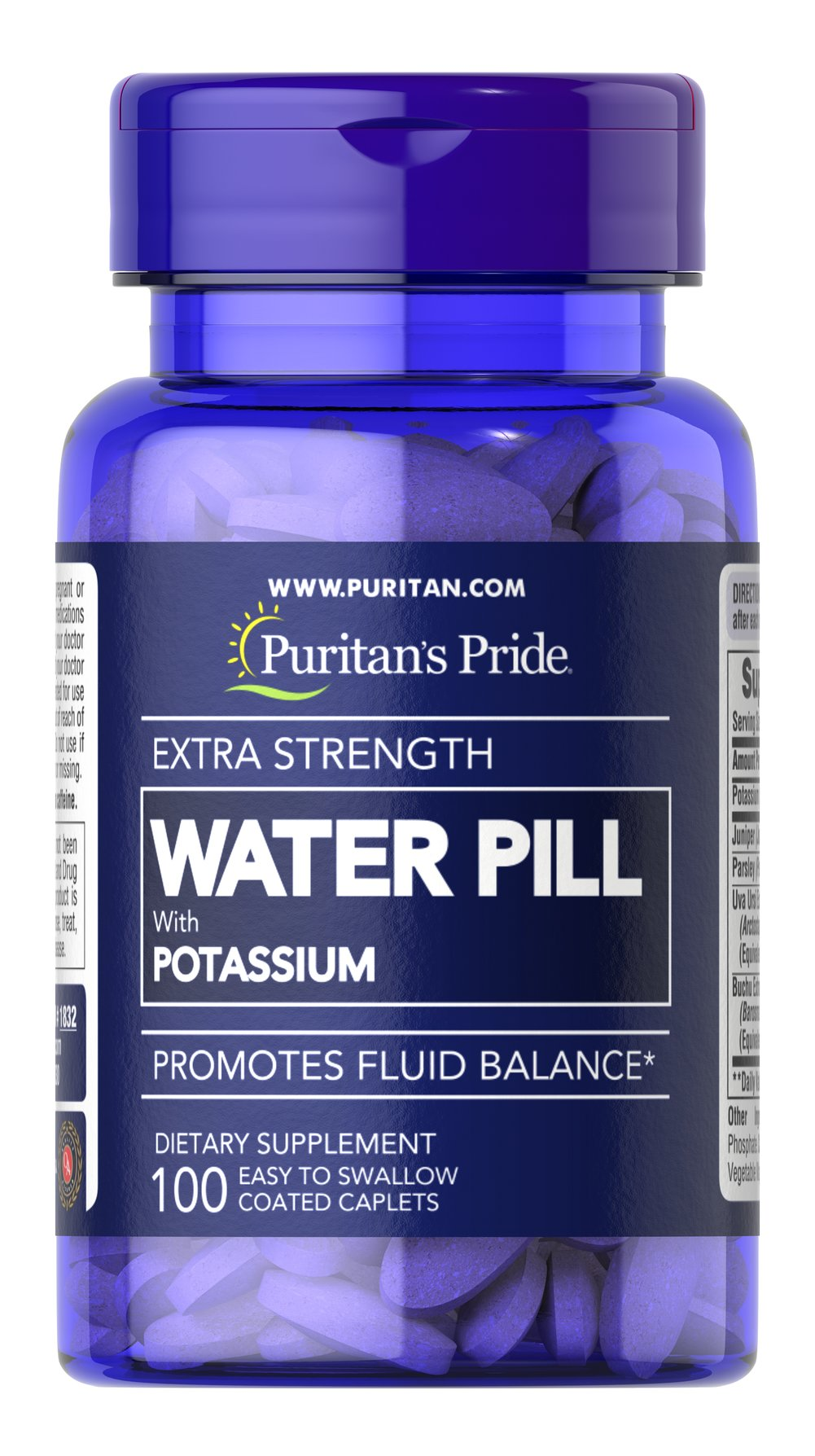 Extra Strength Water Pill™ <p>Promotes Fluid Balance**</p><p>This product contains the essential mineral Potassium, which works with sodium to regulate the body's water balance.** EXTRA STRENGTH WATER PILL™ Tablets also contain Uva Ursi, Buchu, Juniper and Parsley.</p> 100 Caplets  $9.09