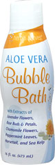Aloe Vera Bubble Bath <p>Softly moisturizes and protects</p><p>Rejuvenates your skin, leaving it fresh and supple</p><p>Enjoy the silky softness of your Aloe-enriched skin</p><p>Relax in the silky softness of this unique herbal bubble bath. Aloe Vera Bubble Bath surrounds you in luxurious relaxing bubbles. With a delicate organic fragrance, this satiny smooth bubble bath contains Aloe Vera, used for centuries as a skin moisturizer. This moisturizing effe