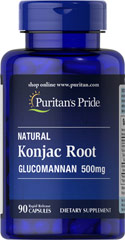 Glucomannan 500 mg Konjac Root <p>Glucomannan is specifically designed to be used with your reduced calorie diet and daily exercise plan and is a popular addition to all types of nutritional programs.</p><p>Glucomannan helps maintain cholesterol levels already within a normal range.**</p><p><br /></p><p></p> 90 Capsules 500 mg $12.29