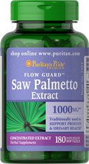 Saw Palmetto 1000 mg  180 Softgels 1000 mg $36.99