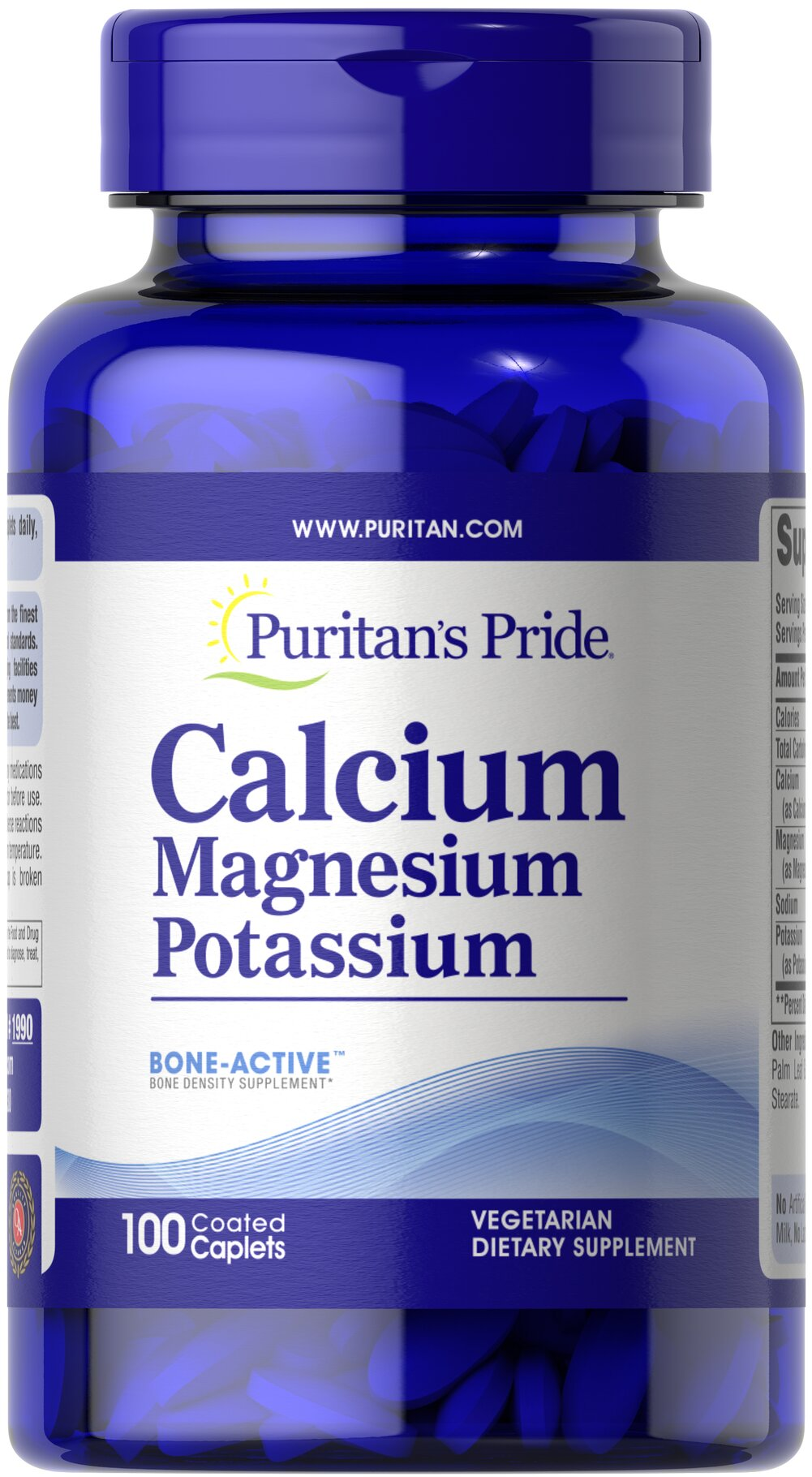 Calcium Magnesium Potassium <p>Cal/Mag/Potassium tablets contain three important minerals (calcium, magnesium, and potassium) that work together synergistically for better absorption and bioavailability.</p><p><strong>Two (2) tablets contain 500 mg Calcium, 500 mg Magnesium and 99 mg Potassium.</strong></p> 100 Caplets 250 mg/49 mg $8.99