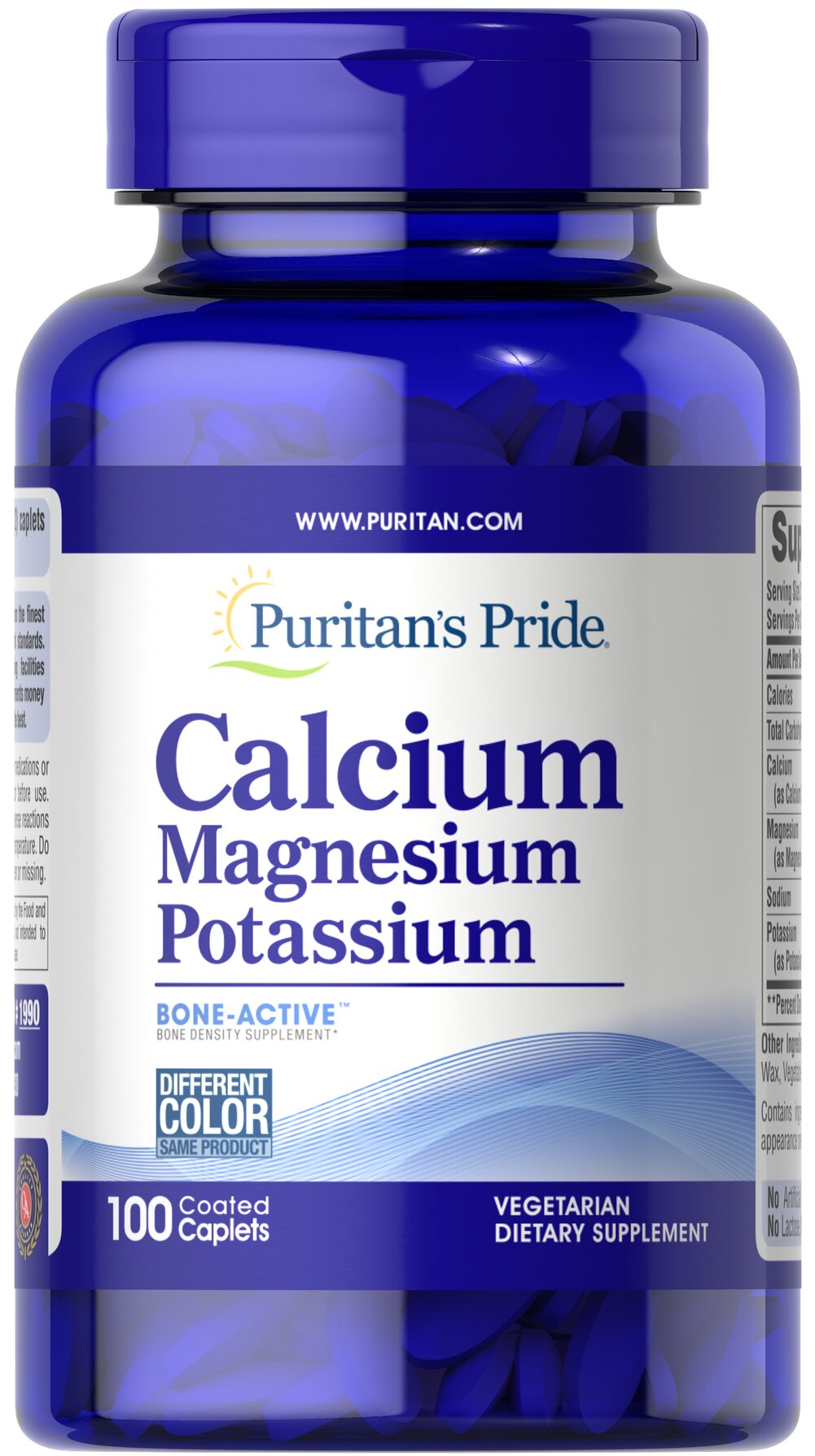Calcium Magnesium Potassium <p>Cal/Mag/Potassium tablets contain three important minerals (calcium, magnesium, and potassium) that work together synergistically for better absorption and bioavailability.</p><p><strong>Two (2) tablets contain 500 mg Calcium, 500 mg Magnesium and 99 mg Potassium.</strong></p> 100 Caplets 250 mg/49 mg $9.26
