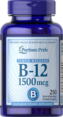 Vitamin B-12 1500 mcg Timed Release <p>Being your best just got easier! As you may know, the B Vitamins play many important roles in the body, including energy metabolism.** Specifically, the vitamin known as B-12 helps maintain proper metabolic functioning and circulatory health, and contributes to the health of the nervous system.** It also aids in normal development and the regeneration of red blood cells.**</p> 250 Caplets 1500 mcg $28.79