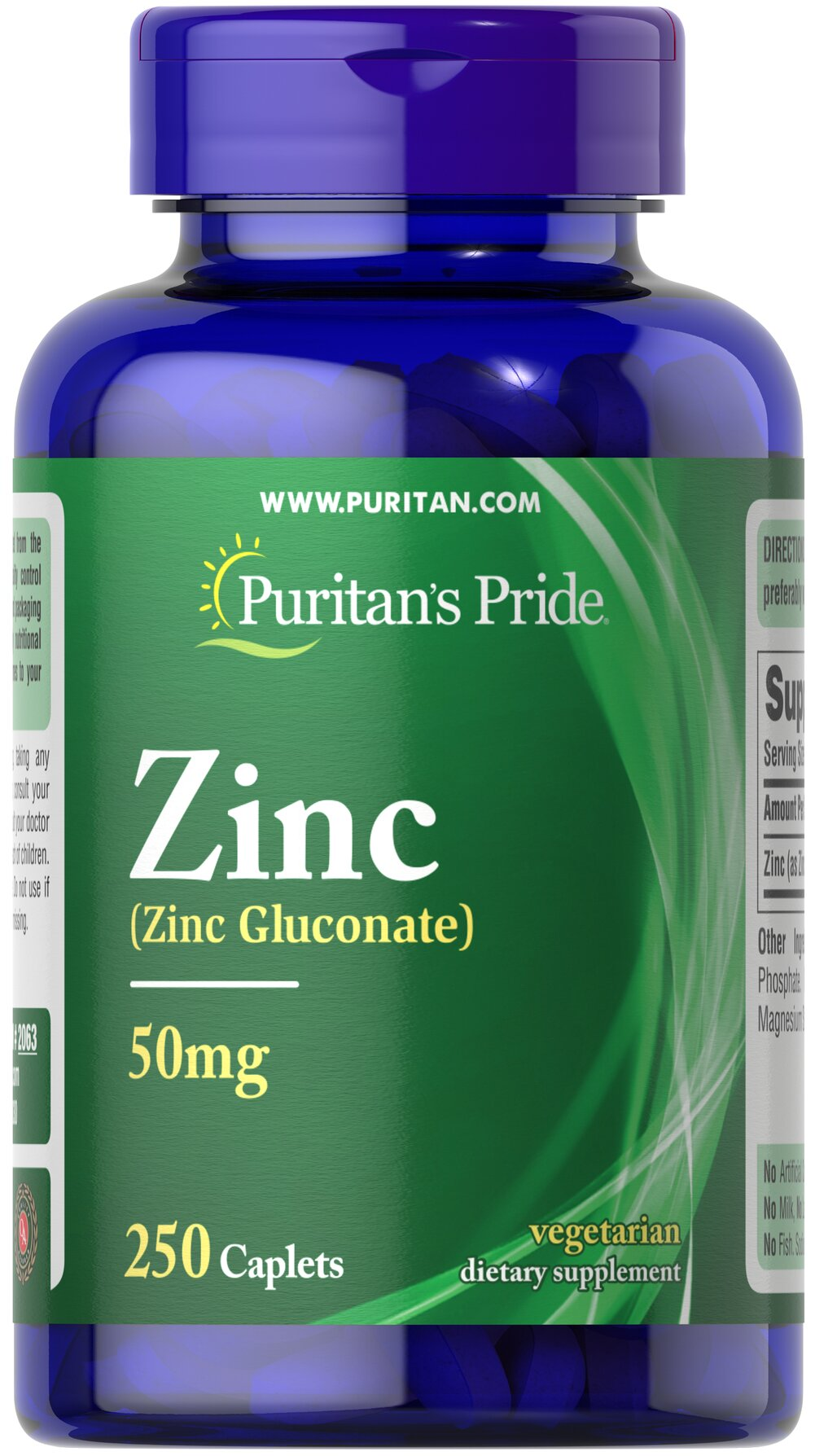 Zinc Chelate 50 mg <p>Zinc is an antioxidant that provides immune support and plays a role in over 300 enzymes in the body.** It assists in the formation of DNA, the cell's genetic material, and is essential for cell division and growth.**</p><p>Zinc offers additional benefits as it assists in the proper functioning of the hormone insulin.** Adults can take one tablet daily with a meal.</p> 250 Caplets 50 mg $10.99