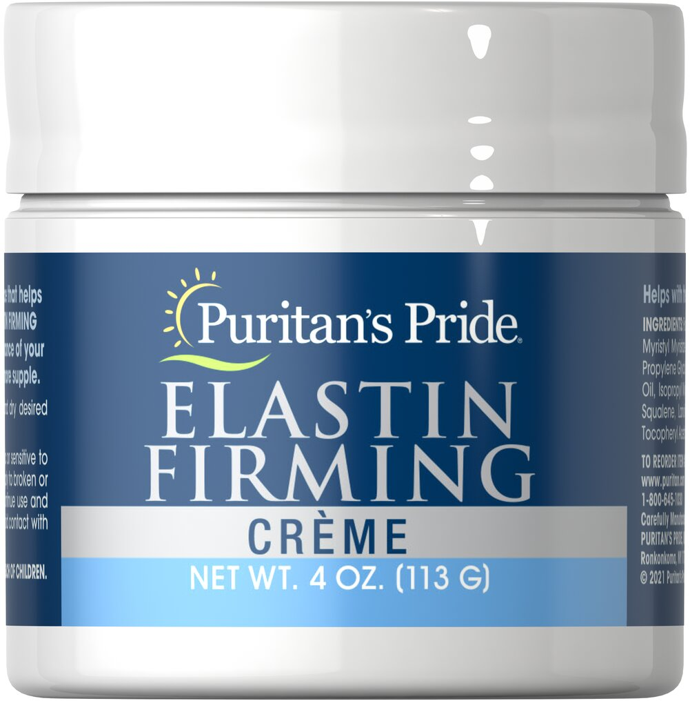 Natural Elastin Firming Crème <p>Elastin is the natural substance that keeps skin from aging. Used daily, Elastin Firming Crème can help improve the youthful appearance of your skin. Contains natural Elastin in an exclusive formula that also affords the benefits of rich natural oils, Collagen and Vitamin E.</p> 4 oz Cream  $8.99