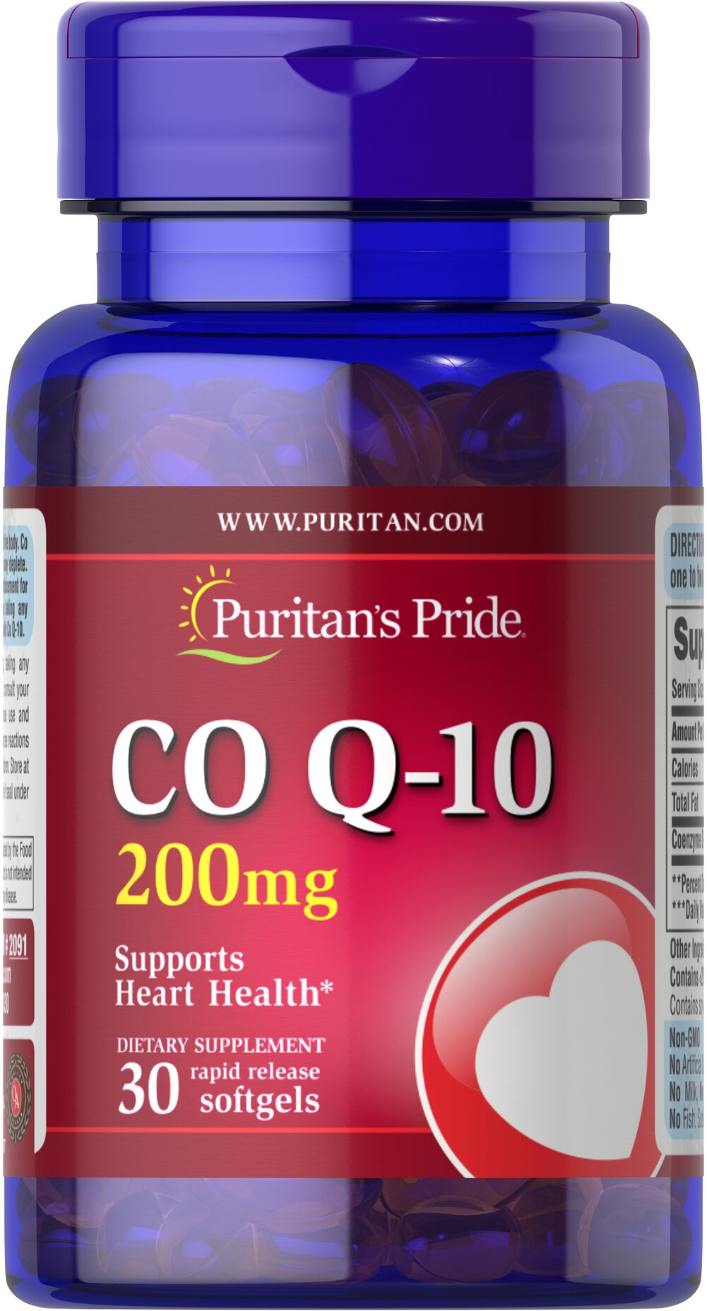 Q-SORB™ Co Q-10 200 mg  30 Rapid Release Softgels 200 mg $14.99