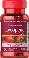 Lycopene 10 mg <p>Lycopene, a naturally occurring carotenoid, possesses antioxidant properties which help neutralize harmful free radicals in cells, and play a role in maintaining good health.** Lycopene promotes prostate and heart health, and supports the immune system.** Adults can take one softgel daily with a meal.</p> 50 Softgels 10 mg $7.99
