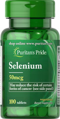 Selenium 50 mcg <p>Selenium is an essential trace mineral that supports the immune system.** </p><p>Adults can take one tablet daily with a meal.</p>  100 Tablets 50 mcg $4.49