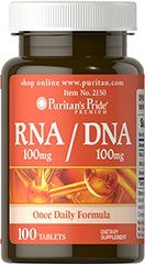 RNA/DNA 100 mg/100 mg <p>RNA & DNA (Ribonucleic Acid and Deoxyribonucleic Acid) are nucleic acids that are an essential part of every living cell.</p> 100 Tablets 100 mg $10.99