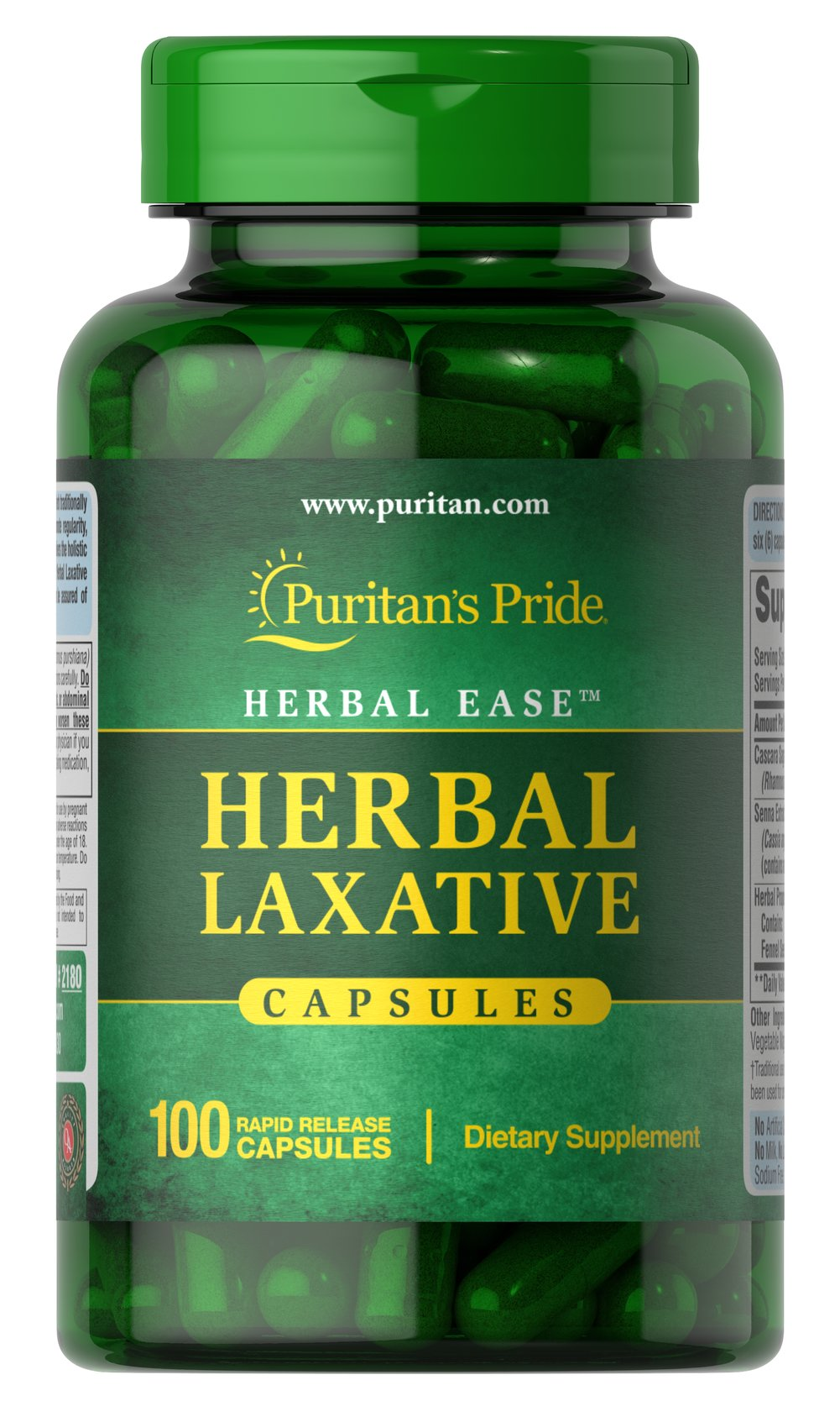 Herbal Laxative <p><strong>Herbal Laxative</strong> Capsules are an all-natural laxative designed to help with occasional constipation.** Our formula brings together the holistic properties of Cascara Sagrada and Senna, two popular herbals that help promote regularity.**</p><p>Herbal Laxative Capsules contain no harsh synthetics, to assure gentle, yet efficient, cleansing.**</p><p>Also available in Tablets. See items #30329, 30330 and 30331.</p> 10