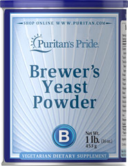Debittered Brewer's Yeast Powder One of nature's richest foods! Brewer's Yeast is a natural source of B vitamins.  16 oz Powder  $19.99