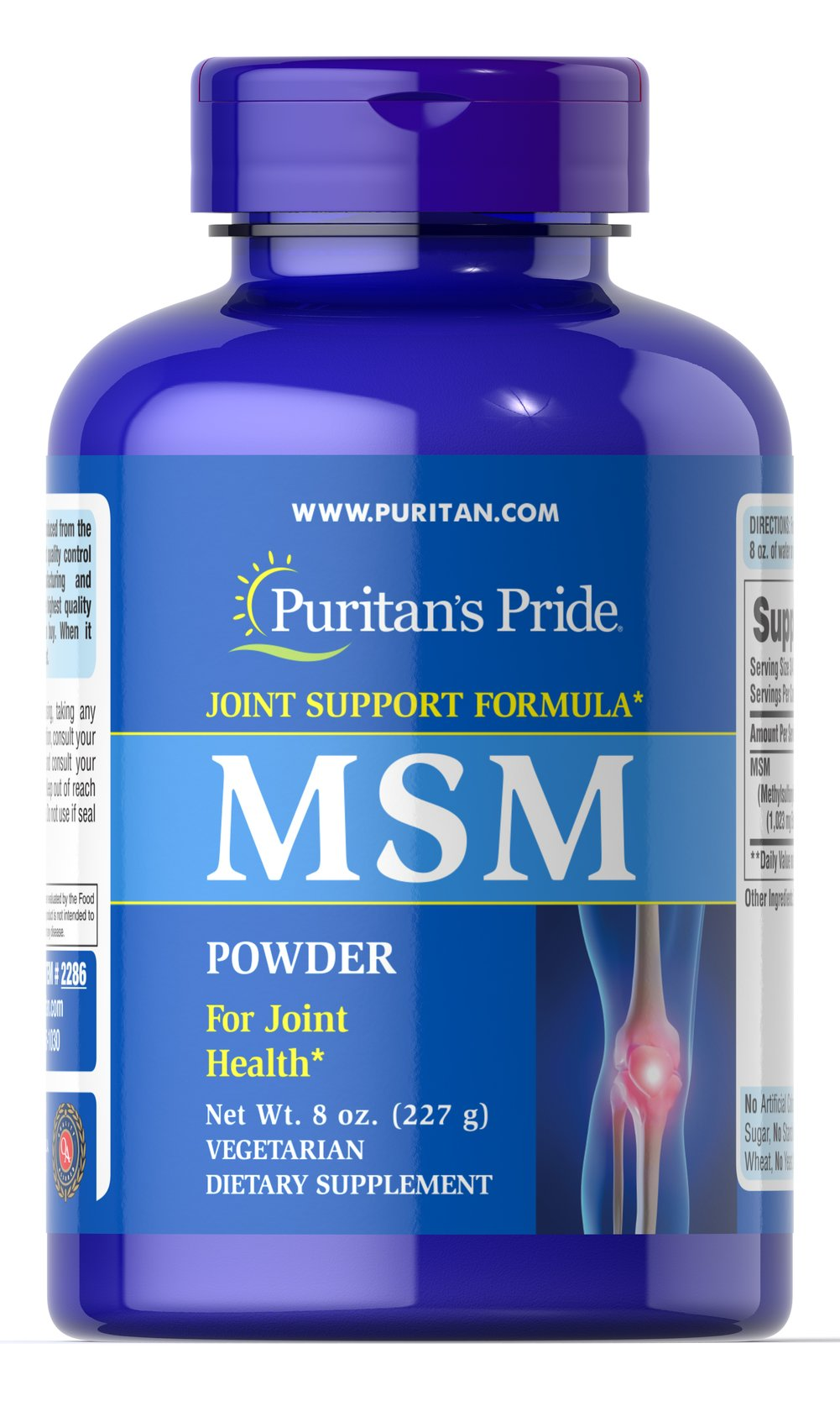 MSM Powder <p>Methylsulfonylmethane (MSM) is a natural source of sulfur, one of the major building blocks of glycosaminoglycans.  Glycosaminoglycans are key structural components in cartilage and play an important role in the maintenance of joint cartilage.**</p> 8 oz. Powder  $18.99