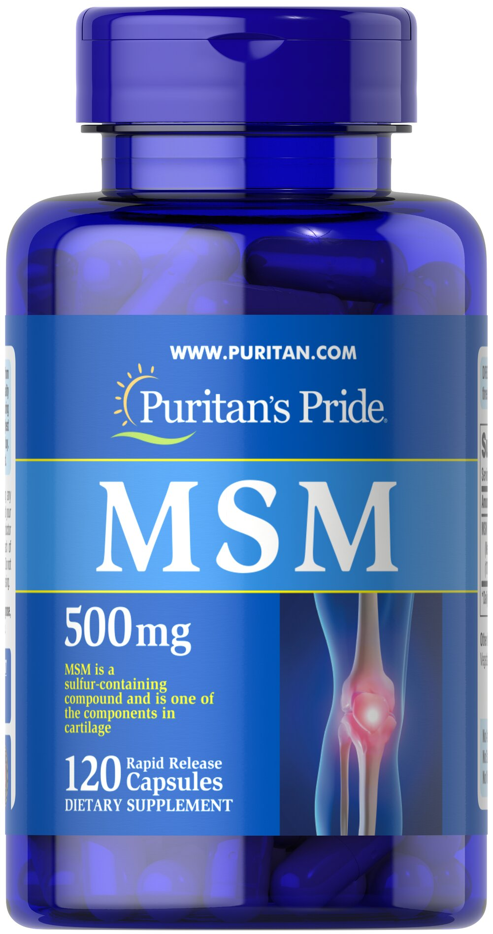 MSM 500 mg <p><b>Methylsulfonylmethane (MSM)</b> is a natural source of sulfur, one of the major building blocks of glycosaminoglycans.** Glycosaminoglycans are key structural components in cartilage and play an important role in the maintenance of joint cartilage. ** </p> 120 Capsules 500 mg $9.99