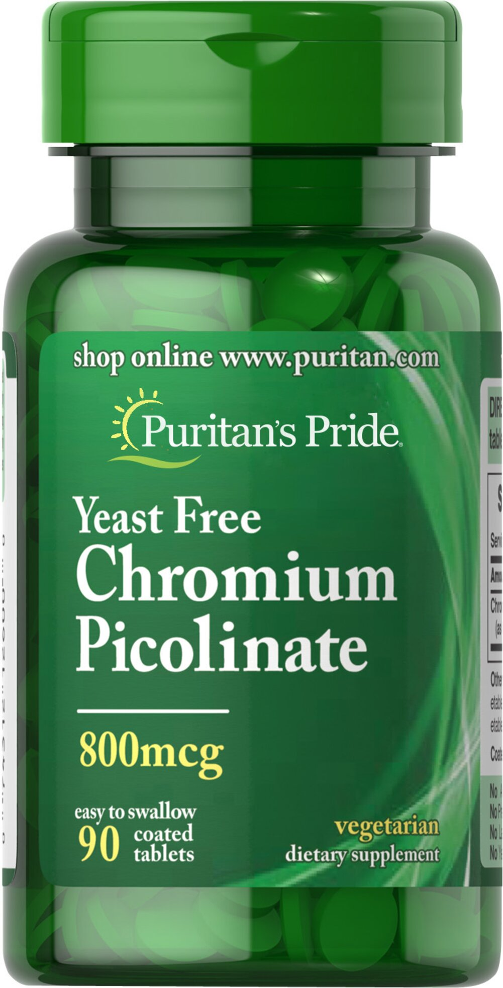 "Chromium Picolinate 800 mcg Yeast Free <p>As a trace mineral, Chromium is an essential nutrient that your body needs every day. The term ""trace"" means that Chromium is a mineral that's found in the body in very small amounts (less than 5 grams), which may make taking a Chromium supplement especially important. Our Chromium formulas are perfect for vegetarians, and are free of yeast.</p> 90 Tablets 800 mcg $10.29"