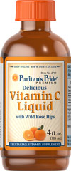 Vitamin C 300mg Liquid with Rose Hips <p>Vitamin C is a key antioxidant that provides protection from free radicals, and helps to maintain collagen and blood vessels. **</p><p>Offered in a liquid formula for those 12 years and older.</p> 4 oz Liquid 300 mg $12.29