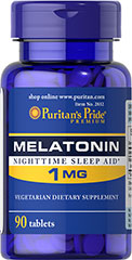 Melatonin 1 mg <p>Sometimes it's hard to unwind after a long day. That's when it's time for Melatonin, a hormone naturally produced in the body that is closely involved in the natural sleep cycle.** It's a terrific choice if you experience occasional sleeplessness or jet lag, or if you want to improve your quality of rest.**  Melatonin helps you fall asleep quickly and stay asleep longer**<br /></p> 90 Tablets 1 mg $4.99