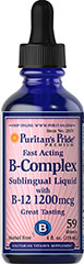 Vitamin B-Complex Sublingual Liquid with Vitamin B-12 <p>This Vitamin B-Complex Sublingual Liquid with Vitamin B-12 provides an excellent source of B-Complex vitamins to help safeguard a sufficient daily intake. The B-Complex is essential for the maintenance of healthy nervous tissue.** The B Vitamins play a role in energy metabolism in the body.** There are 59 doses per 2 fl. oz.</p> 4 fl oz Liquid  $13.29