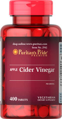 Apple Cider Vinegar 240 mg <p>Chances are, your mother and grandmother used Apple Cider Vinegar for a variety of purposes. As a supplement, Apple Cider Vinegar tablets are popular with fitness enthusiasts and those following healthy eating plans.</p> 400 Tablets 240 mg $19.99