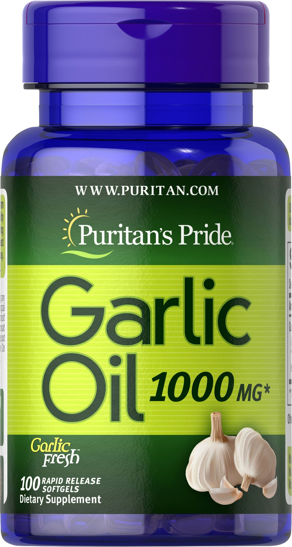 Garlic Oil 1000 mg <p>Cholesterol Support**</p><p>Supports Cardiovascular Health**</p><p>Whether warding off evil spirits or flavoring sauces, Garlic has been known for its beneficial qualities. Natural ingredients in Garlic include alliin, allinase and allicin. Garlic promotes cardiovascular health and helps to maintain cholesterol levels that are already within the normal range.**</p> 100 Softgels 1000 mg $6.99