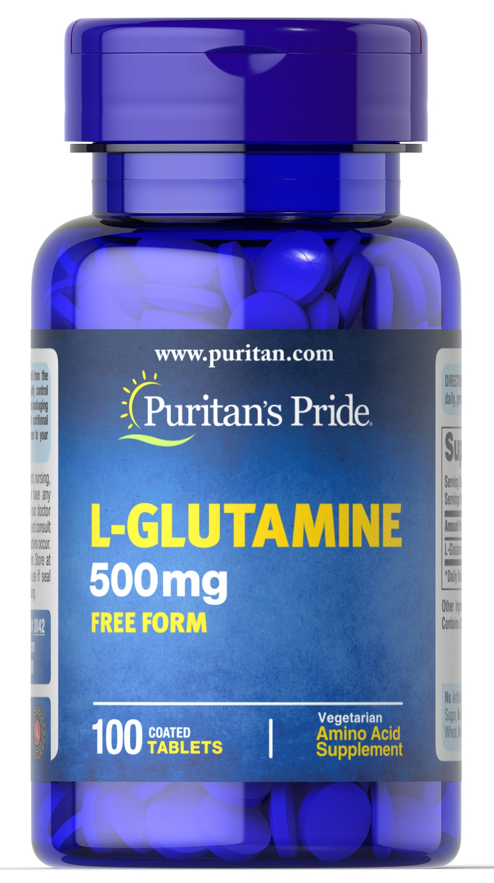L-Glutamine 500 mg <p>Popular with Bodybuilders</p><p>Highly Concentrated in Muscle**</p><p>Exercise & Post-Exercise Support**</p><p>L-Glutamine is a popular supplement with bodybuilders and athletes  because it's an important part of any hardcore training regimen. Glutamine is a truly unique amino acid, as it is the most abundant amino acid in blood and skeletal muscle. Intense exercise promotes glutamine formation and release from muscle.**