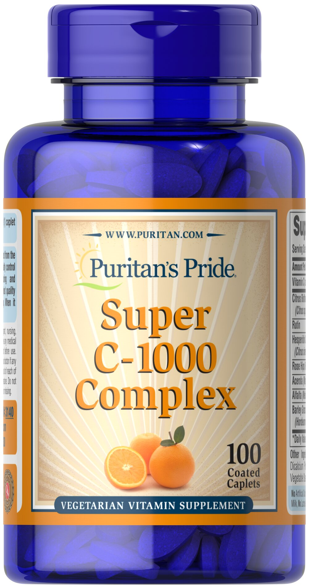 C-1000 Complex™ <p>Vitamin C  is essential to many functions in the body and is one of the leading vitamins for immune support.** Our C-complex includes potent Vitamin C as Ascorbic Acid. We also include Citrus Bioflavonoids, Rose Hips, Rutin, and Acerola.**</p><p>Offers superior antioxidant support.**</p><p>Supports healthy immune function and promotes well-being.**</p> 100 Coated Caplets 1000 mg $15.99