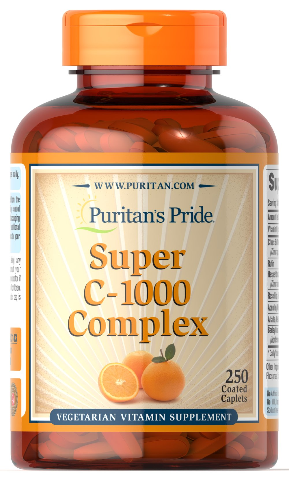 C-1000 Complex™ <p>Vitamin C  is essential to many functions in the body and is one of the leading vitamins for immune support.** Our C-complex includes potent Vitamin C as Ascorbic Acid. We also include Citrus Bioflavonoids, Rose Hips, Rutin, and Acerola.**</p><p>Offers superior antioxidant support.**</p><p>Supports healthy immune function and promotes well-being.**</p> 250 Coated Caplets 1000 mg $35.99