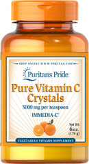 Vitamin C Crystals 5,000 mg <p>Supports Antioxidant Health and Immune System Function**</p><p>As a water-soluble nutrient, Vitamin C helps fight cell-damaging free radicals in the body.** Free radicals may contribute to the premature aging of cells.** Vitamin C also promotes immune system function.**  Vitamin C Crystals are specially designed for people who cannot take tablets or capsules.</p> 6 oz Crystals 5000 mg $14.39
