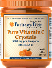 Vitamin C Crystals <p>Supports Antioxidant Health and Immune System Function**</p><p>As a water-soluble nutrient, Vitamin C helps fight cell-damaging free radicals in the body.** Free radicals may contribute to the premature aging of cells.** Vitamin C also promotes immune system function.**  Vitamin C Crystals are specially designed for people who cannot take tablets or capsules.</p> 20 oz Crystals 5000 mg $36.99