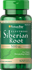 Eleuthero Siberian Root 500mg <p>Supports Physical Performance**</p><p>Eleuthero (Siberian Root) contains complex polysaccharides - sugars that help give Eleuthero (Siberian Root) its beneficial qualities. Eleuthero is an adaptogen known for its ability to promote physical performance.**</p> 100 Tablets 500 mg $11.99