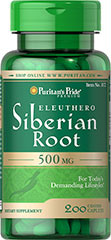 Eleuthero Siberian Root 500 mg <p>Supports Physical Performance**</p><p>Eleuthero (Siberian Root) contains complex polysaccharides - sugars that help give Eleuthero (Siberian Root) its beneficial qualities. Eleuthero is an adaptogen known for its ability to promote physical performance.**</p> 200 Tablets 500 mg $18.99