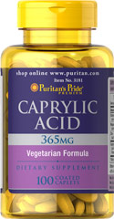 Caprylic Acid 350 mg <p>This formula contains 365 mg of Caprylic Acid as Calcium Caprylate, Magnesium Caprylate, Potassium Caprylate and Zinc Caprylate. Caprylic Acid is a medium chain fatty acid. Medium chain triglycerides are metabolized a different way in the body. </p> 100 Tablets 350 mg $19.99