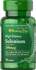 Selenium 200 mcg <p>Selenium is an essential trace mineral that supports the immune system.** </p><p>Adults can take one tablet daily with a meal.</p>  Mineral Products 50 Tablets 200 mcg $4.49